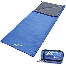 Saco de dormir ultra ligero – resistente al agua y al desgarro con saco de compresión – perfecto para climas cálidos, pijamas, campamentos al aire libre y senderismo en los meses de verano