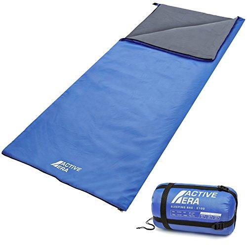 Sacco a pelo ultraleggero – acqua e resistente alle lacerazioni con sacco a compressione-perfetto per il tempo caldo, pigiama party, campeggio all'aperto e trekking nei mesi estivi