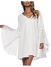 LaoZan Femmes Blouse Chemise Shirt Top Haut Bohême Grande Taille Kimono Col V Manches Longues