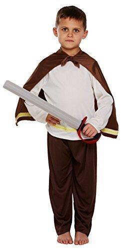 ger Historisch Buch Woche Kostüm Kleid Outfit 4-12 Jahre - Braun, 7-9 Years (Wikinger Kostüme Für Jungen)