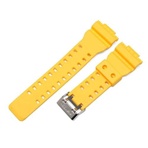 KimcHisxXv Armband Kompatibel FüR Casio G-Shock Ga-110Gb Ga100 Gd120,Weiche Silikon Wasserdicht Ersatz UhrenarmbäNder FüR Casio G-Shock Ga-110Gb Ga100 Gd120