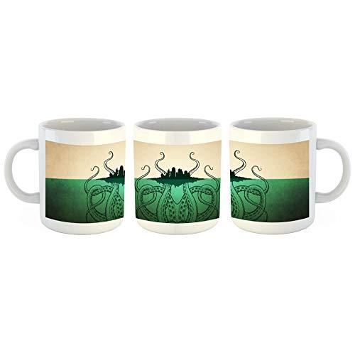 Cthulhu Krake - Tasse mit Motiv Bedruckt, 300ml C-Henkel. Tolles Geschenk für Büro, Küche, Geburtstag, Lieblingstasse zum Frühstück ()