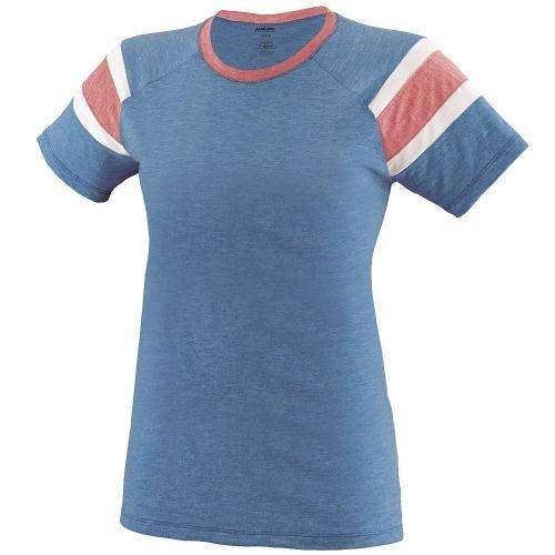 Augusta Sportswear Girls Fanatic Tee L Royal/Red/White -