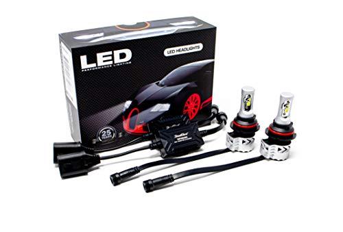 Streetglow XHPH90046K 9004-40/80W Cree LED Headlight Conversion Kit, on
