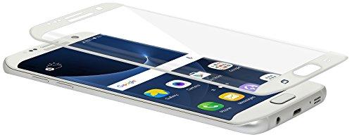 StilGut Displayschutzfolie für Samsung Galaxy S7 edge Panzerglas-Folie curved. Abgerundete Panzerfolie Echtglas für das Original Galaxy S7 edge mit weißem Rand
