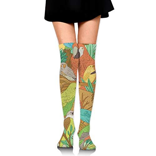 Mädchen Anwalt Kostüm - Bidetu Vögel über Knie lange Socke