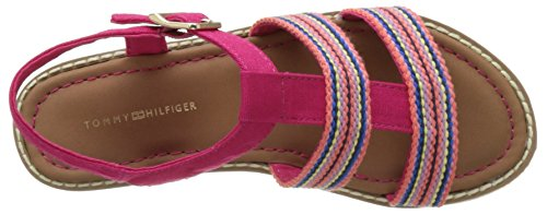Tommy Hilfiger S3285asha 6c, Sandales  Bout ouvert fille Rose (Virtual Pink)