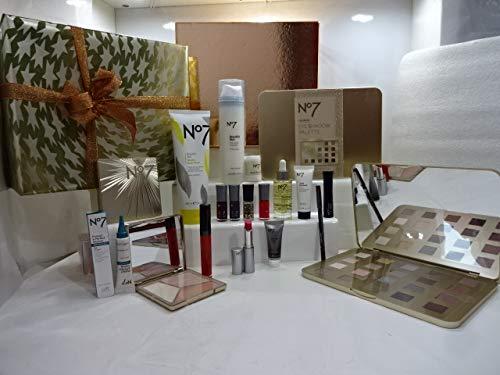 N ° 7 l'Ultime 15PC Beauté Soins de la peau et maquillage Boîte cadeau gratuit Cadeau Emballé Edition spéciale Noël Luxe Beauty Box pour elle. 040.