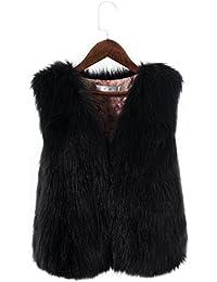 Per Manteau sans Manche Fausse Fourrure Gilet Femme Hiver Veste Fourrure Femme  sans Manche Faux Fur 9f8207ddd77f