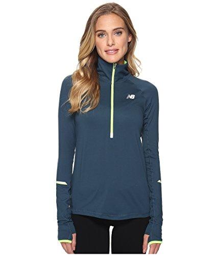 Laufshirt langarm Longsleeve Damen Running Zipper New Balance WT71213 IMPACT HALF ZIP -