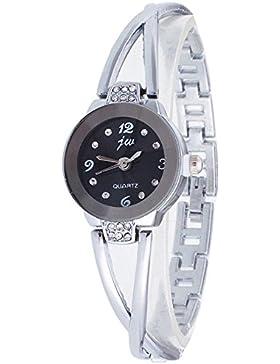 Gosear Frauen Lady Mädchen Mode Lässige Partei Quarz Armband Handgelenk Uhr Armbanduhr mit Edelstahl Band Schwarz