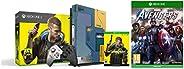 Xbox One X Cyberpunk 2077 Limited Edition Bundle (1TB)&Marvel's Avengers (X