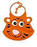 Nuby Roly Poly Silicone Catch All Bib, Tiger