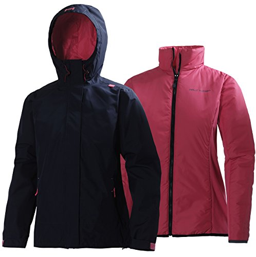 Helly Hansen W Squamish CIS Jacket Chaqueta Impermeable Rell, Mujer, Azul (Evening...