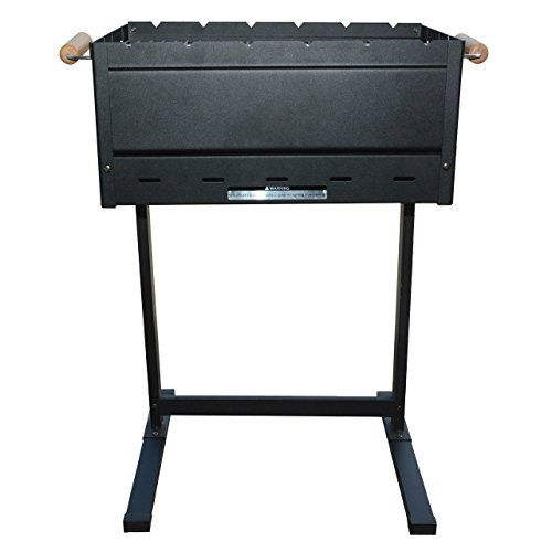 BergHOFF Studio Portable Folding Black Steel Charcoal Barbeque, 63x45x78.5 cm