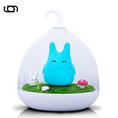Gary&Ghost LED Stimmungslicht Totorosform Blau Nachtlicht 2 Helligkeitsstufen Dimmbar Touchfeldbedienung Tischleuchte für Nachttisch Kinder