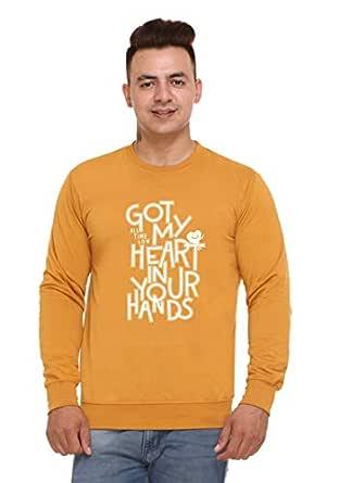 SHAUN Men's Round Neck Fleece Sweatshirt