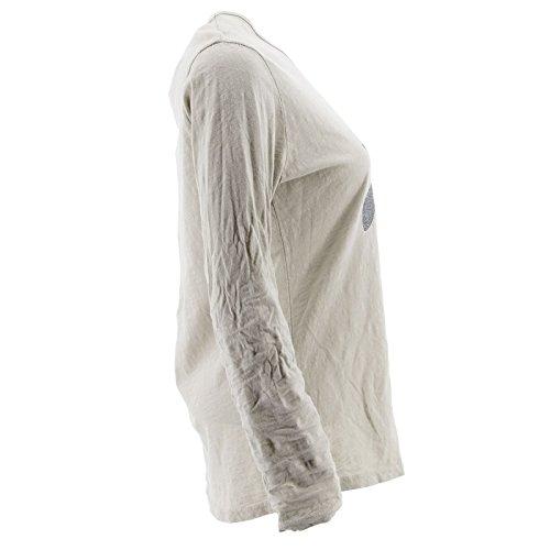 Netgozio Top à Manches Longues - Femme * Taille Unique Beige