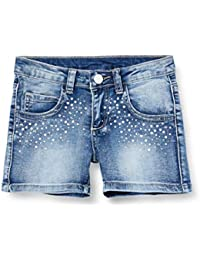 MEK Shorts Jeans Stretch con Appl Niñas