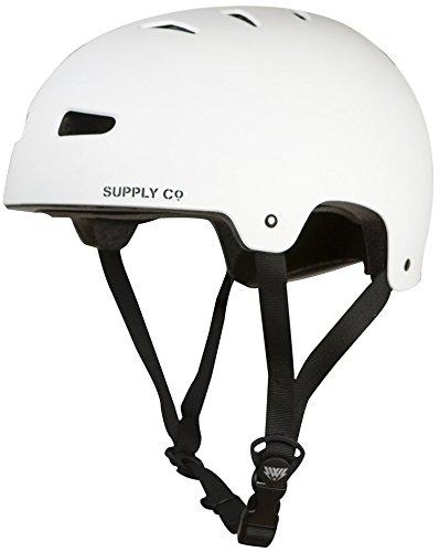 Skaterhelm BMX Helm Freestyle Helm Shaun White H1 schwarz weiß Gr. M, L Skateboarding (Weiß, M (52-54))