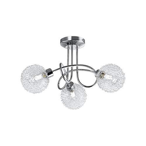 Lámpara de techo con 3 x 3,5 W bolas de cristal, luz...