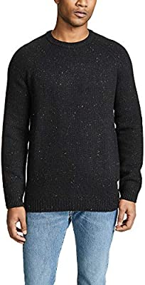 Carhartt ANGLISTIC Sweater Black Heather Streetwear uomo AI18