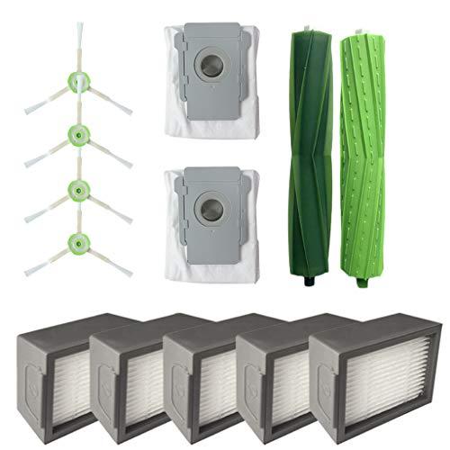LCLrute Hauptbürste & Hepa Filter & Dirt Entsorgung Taschen für iRobot Roomba i7 i7 + / i7 Plus-E5