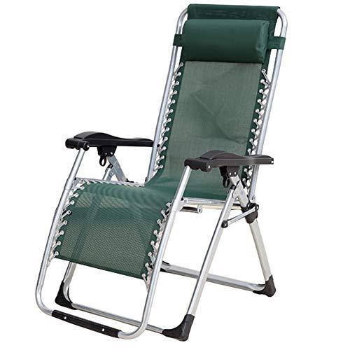 Liegestuhl, klappbar   einstellbar   grün, grau, schwarz   Schwerelosigkeitsstuhl   Gartenstuhl   tragbarer Siesta Stuhl   Balkonstuhl - Bambus-stuhl-abdeckung