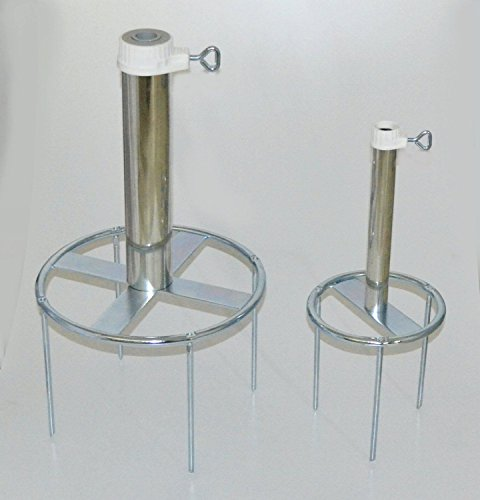 Holly gazon dorne - Support en acier - Parapluies - Allemand - 80 µ galvanisé - Brochette des Stabielo® - Sol N ° 50 Diamètre de l'anneau ø 300 mm - Fixation avec 4 Brochettes sol - Brochette Longueur 20 cm - support pour parasol - Holly produits Stabielo® - tänder multi-usage avec bague de sol pour fixation de Écran Bâtons à 53 mm Ø - Innovations fabriqué en Allemagne - Holly-Sunshade® - Contenu de bar aussi pour étage Diamètre jusqu'à 25 mm - Voir ASIN - b00gmj s5nw - Prix de - Produits fabriqué en Bade Wurtemberg de