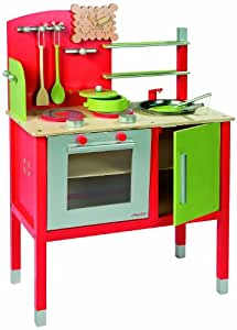 janod maxi cooker red toys games. Black Bedroom Furniture Sets. Home Design Ideas