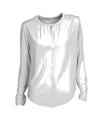 IHEART Damen Bluse Pippa in Silbergrau 465 silver L