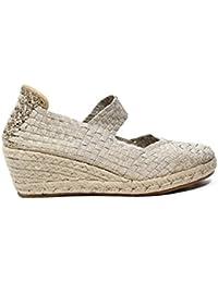 Woz UP317 PLATINO sandalo elastico corda platino nuova collezione primavera estate 2017