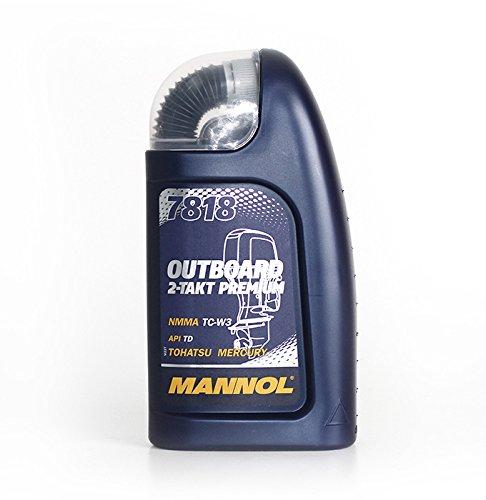 MANNOL 7818 Outboard 2-Takt Premium API TD Motoröl Außenbord Öl 1L MN7818-1 -