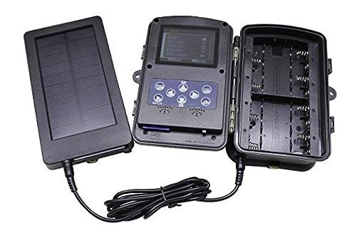 Panneau solaire 2500mah Chargeur solaire Batterie pour chasse et caméra Trail Cameras par Emperor of Gadgets®
