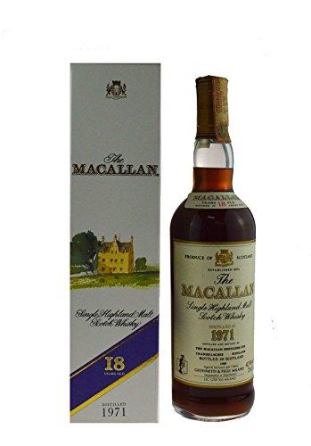 Rarität: The Macallan Whisky Jahrgang 1971 - abgefüllt 1989 - Single Highland Malt Scotch Whisky