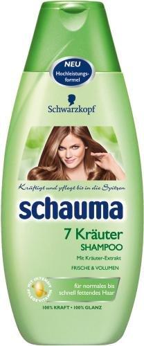 Schauma Shampoo 7 Kräuter, 2er Pack (2 x 400 ml)