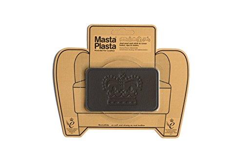 MastaPlasta Patch de réparation adhésif en cuir marron 10x6cm