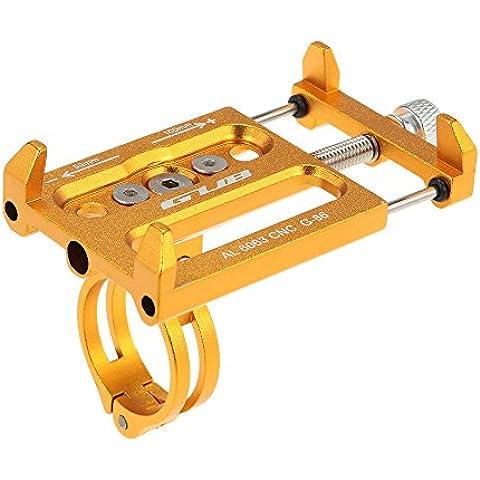 Docooler Aleación de Aluminio de la Bicicleta Todos los Fines de Soporte para Teléfono Handbar Gancho para Base de Soporte de Montaje