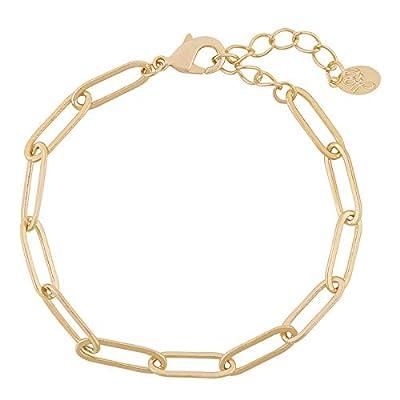 Bracelet chaîne à larges maillons - Bracelet maillons