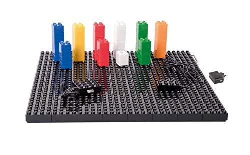 Unbekannt Light STAX Power Table Junior / 50 LED-Bausteine / Bauen und Spielen mit Leuchtenden Bausteinen / mit Lego Steinen Kompatibel / ab 4 Jahre