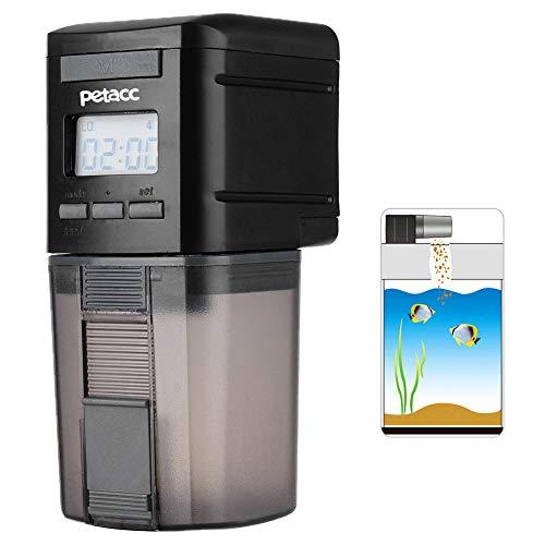 Petacc Futterautomat für Fischfutter Automatisierte Futterspender Fischfutter Multifunktionsfisch, Fütterung Zeit Einstellung, geeignet für Aquarium, Fisch Tank und Schildkröten Tank