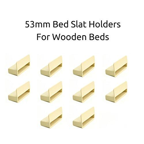 Einzelbett-Lamellenhalter Kappen für Holzrahmen, 53 mm, Beige, 10Stück