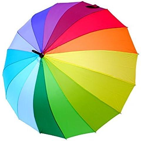 COLLAR AND CUFFS LONDON - Paraguas Clásicos - MUY FUERTE - Antiviento - Automático - Alta Ingeniería Para Luchar Contra El Daño Causado Por Giro - 16 Varillas Para La Fuerza Adicional - Arco