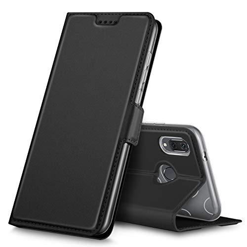 Huawei P20 Lite Hülle, Huawei Nova 3e Hülle, iBetter Premium Tasche Cover Flip Case [Magnetic Closure] [Standfunktion] Schutzhülle Handyhüllen für Huawei P20 Lite/ Huawei Nova 3e Smartphone(Schwarz)