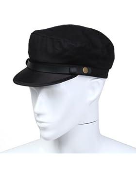 Dcolor Gorra de Marina Marinero Capitan Algodon Color Negro para Hombre Nuevo