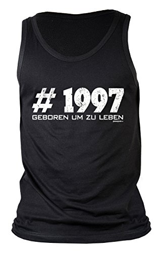 Männer-Geburtstags/Jahrgangstop/Träger-Shirt/Tank Top: #1997 Geboren um zu leben geniales Geschenk Schwarz