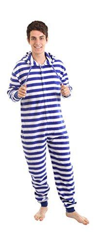 Funzee NAUTISCH, Strampler für Erwachsene Ganzkörperschlafanzug, Overall Pyjama, Einteiler, Onesie, Jumpsuit, Schlafoverall in körpergrößenabhängigen Unisexgrößen XS-XXL (Medium)