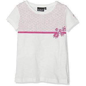 CMP Mädchen T-Shirt Jersey 100% Cotone