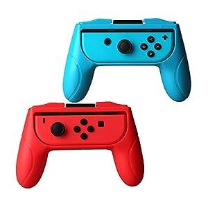 ykooe Nintendo Switch Joy-Con Gaming Controller [Verbesserte Version] Ersatz Gamepad Controller Grips Halterung Griff Schutz Hülle für Nintendo Switch Joy-Con [2 Stück]
