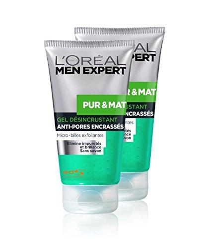 loreal-men-expert-pur-mat-gel-nettoyant-desincrustant-visage-peau-grasse-lot-de-2-x-150ml